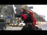 Казак на велосипеде в центре Невограда